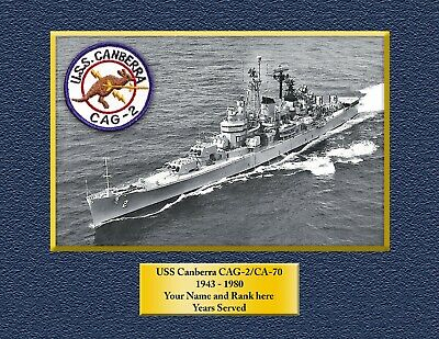 USS CANBERRA CAG2-CA70 Custom Personalized Print of US Navy Ships Gift Idea