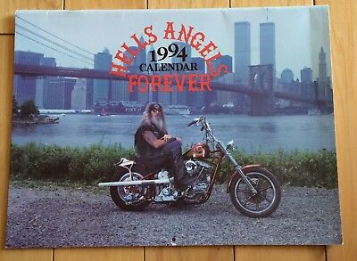 "Hell's Angels 1994 Calendar ""Forever"" Made 4 Those Who Made Ultimate Sacrifice"