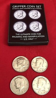 Gripper Coin (Set/U.S. 50) by Rocco Silano. Real US Half Dollars.