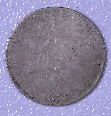1856 3C Silver Three-Cent Piece - AG