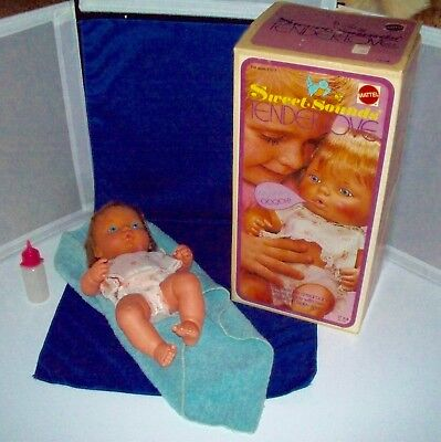 """1973 Vintage (Mattel) """"SWEET SOUNDS TENDER LOVE""""  13"""" Doll, WITH BOX! RARE!"""