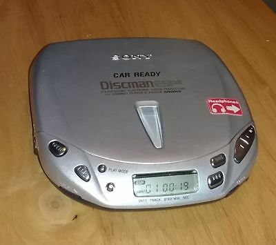 Sony Discman ESP2 D-E456CK SILVER CD Player Groove Car Ready With Batteries