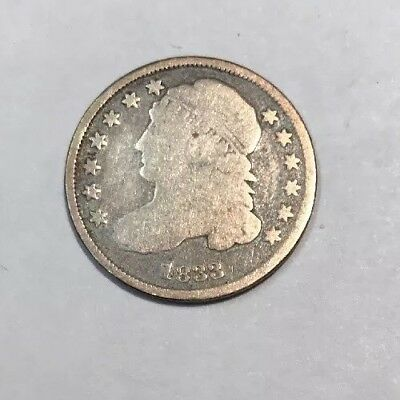1833 Capped Bust Dime Circulated