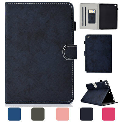 For Apple iPad 9.7 5th 6th Generation Air 2 Smart Case Folding Card Slots Cover