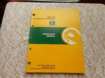 John Deere Amt 622 All Material Transporter Operator's Manual Omw40634 Issue L9
