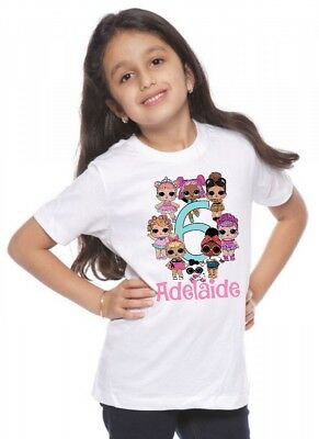 LOL Surprise Custom T-shirt PERSONALIZE Birthday Add Name and Age - UNISEX tee