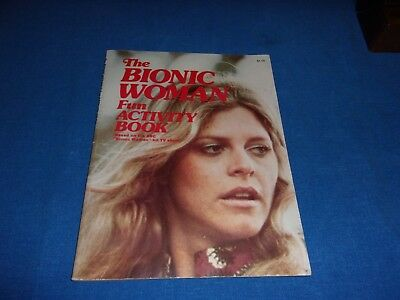 Vintage 1976 Bionic Woman Fun Activity Book