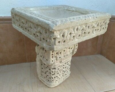 Nice Al Andalus Column Capital And Pile. Water Font Birds. Arab Patio