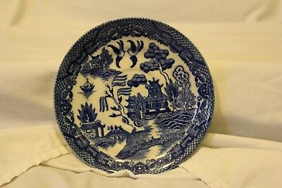 Vintage blue and white plate from Japan