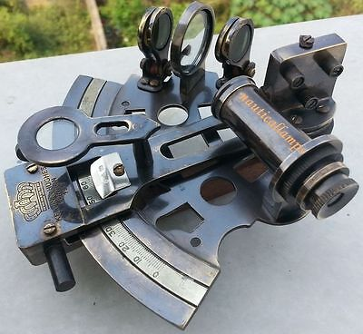 """Nautical 3 INCH Sextant Antique vintage Navigation Working Brass Sextant Gift 3"""""""