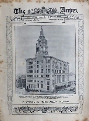 MELBOURNE ARGUS Souvenir 1926: Opening of New Offices in Elizabeth St, 32 pages