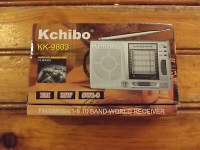 Kchibo KK-9803 10 Band World Receiver - New