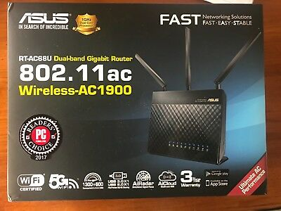 Asus RT-AC68U Dual Band Wireless AC1900 Gigabit Router