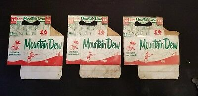 VINTAGE Mountain Dew CARDBOARD CARTON CARRIER 6 PACK Hillbilly Mountain Man RARE