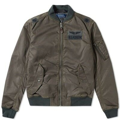 235b76afe42 Polo Ralph Lauren Men MA1 Military Army US Air Force Flight Bomber Pilot  Jacket