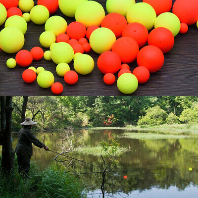 Cn_ 100Pc Fishing Buoy Floating Bobbers Ball Fish Bait Indicator Accessories O