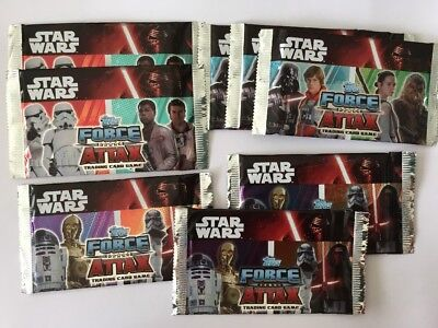 8 Packs Of Star Wars Force Attax Trading Cards