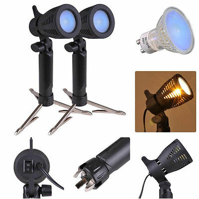 2X 3200K Light Lamp Bulb Light Stand 50W For Photo Video Softbox Tent Backdrop