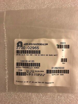 Applied Materials 3700-02965, O-Ring, AS568-227, ID: 2.109x0.139, SC513, 80 DURO