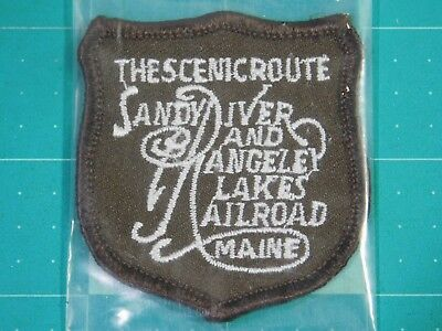 Sandy River and Rangely Lakes Railroad Maine The Scenic Route Patch (10356)
