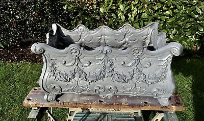 Vintage Cast Iron Planter In French Rocco Style