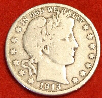 1913-D 50C Barber Half Dollar Vg Beautiful Coin Check Out Store Bh406