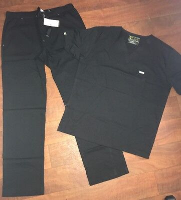 BLACK FIGS MENS UNIFORM SCRUBS SET SIZE LARGE. NWT BASIC PANT