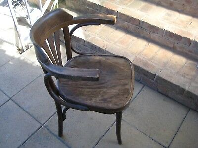 Vintage Wooden Chair Capain's Chair ? Solid Stable Well Made