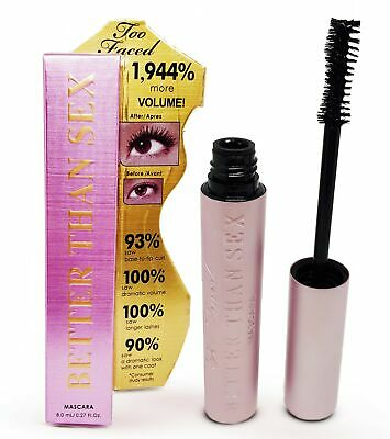 TOO FACED Better Than Sex Waterproof Lash Mascara Black Volumising Thickening DB