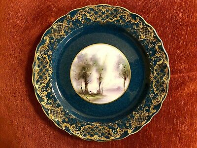 Antique Royal Worcester George Evans Signed Cabinet Plate Hand Painted Made 1932