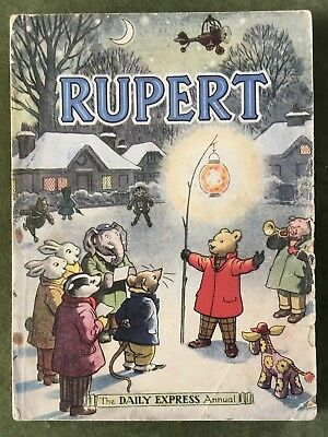 1949 Rupert Annual.  Inscribed. Not price cut. Original. Acceptable +