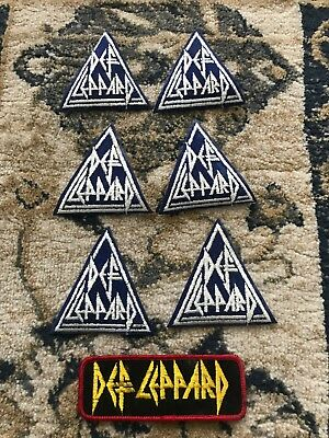 Vintage 1970's-80's Music Rock Band DEF LEPPARD Cloth Patches Rare Lot
