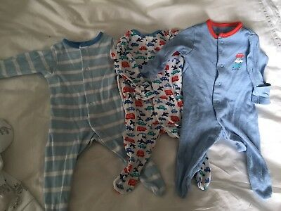 Boots Mini Club Early Baby 5lb Sleepsuits X 3