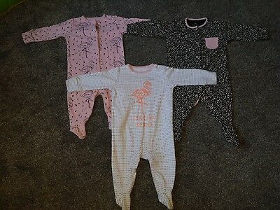 Baby Girl Next Sleepsuit Set 3-6 Months