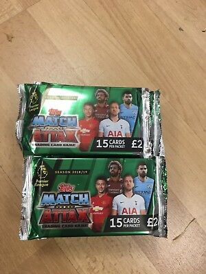 Match Attax 2018/19 Deluxe Pack 15 Cards - Topps EPL Premier League 18 Packs
