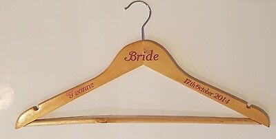 DECALS ONLY Personalised Wedding Coat Hangers, Bride, Bridesmaid, Bridal Party