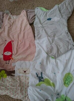 2x Baby To Toddler Sleep Bags / Gro Suits. Detachable Arms. Winter