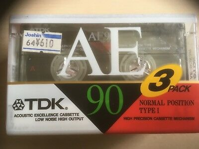 Tdk Ae 90 3 Pack Factory Sealed Audio Cassettes Japan