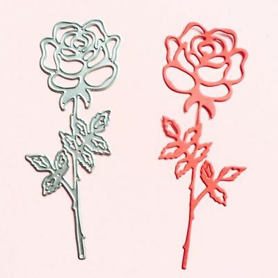 Metal Cutting rose flower for DIY Paper Cards Christmas