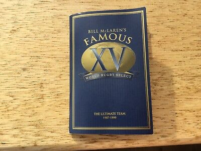 Rare RUGBY BOOKLET MATTHEW GLOAG WHISKY FAMOUS GROUSE NOW EDRINGTON MACALLAN VGC