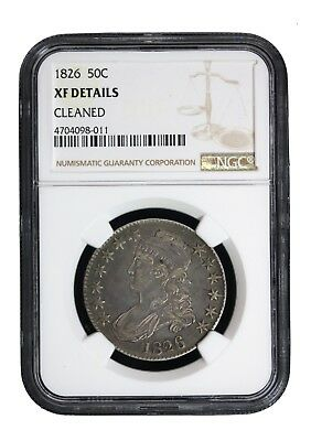 1826 50c Capped Bust Half Dollar NGC XF Extra Fine Certified Graded Coin 8011