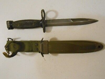 Vintage Us M7 Imperial Fighting Combat Fixed Blade Knife With Usm8A1 Sheath