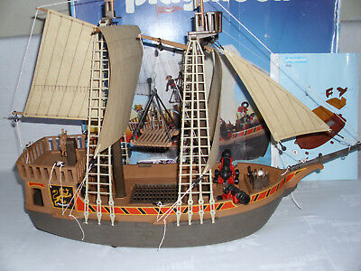 Playmobil 3750 Piratenschiff Piraten Segel komplett Originalkarton Bauanleitung