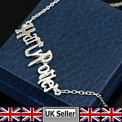 Harry Potter Monogram Boy Wizard Casts His Name as a Pendant Necklace UK Seller
