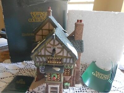 """Dept. 56 Dickens Village Collections """"The Pied Bull Inn"""" 2nd Edition! 1993 NIB!"""