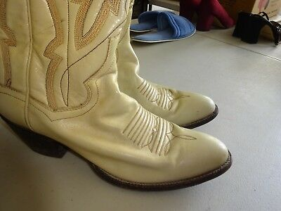 f7b5bf2d720 80'S WOMEN'S PANHANDLE Slim Leather Western Cowboy Boots Size 8 Narrow