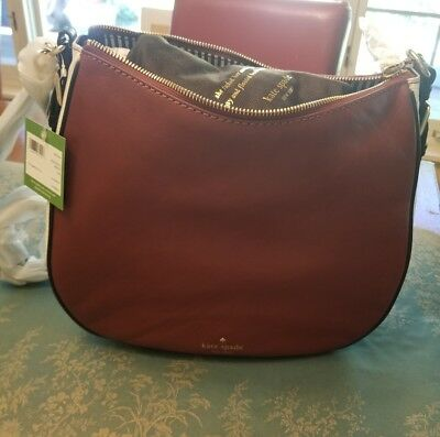 9677c1c077 NWT KATE SPADE Cobble Hill Mylie Pebble Leather Hobo Port Brown ...