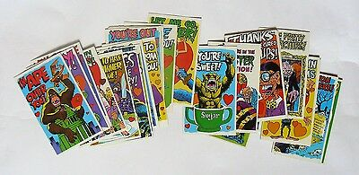 Monster Insult Postcard - Topps - Complete 32 Cards Set