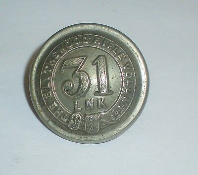 Original Victorian 31 LNK THE BLYTHSWOOD RIFLE VOLUNTRS Button