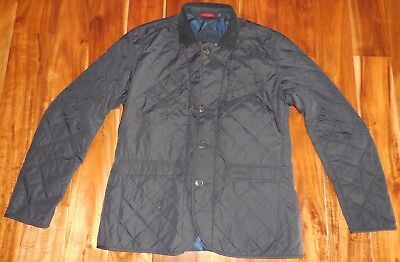 Barbour Authentic Men's Dress Tartan Navy Quilted Beauly Jacket size L
